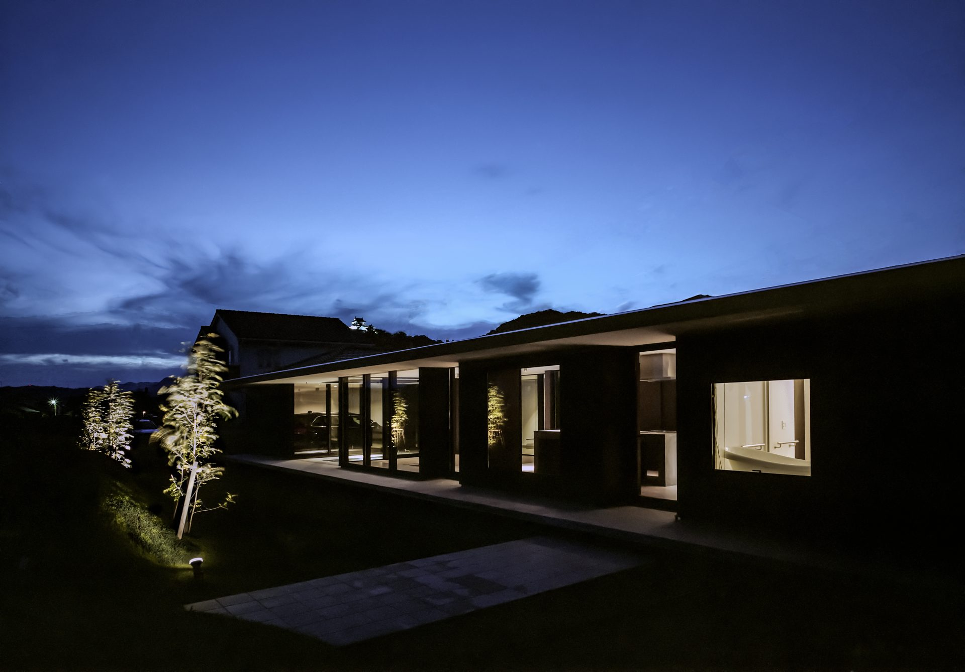 徳島鳴門の家の外観(夜景)04