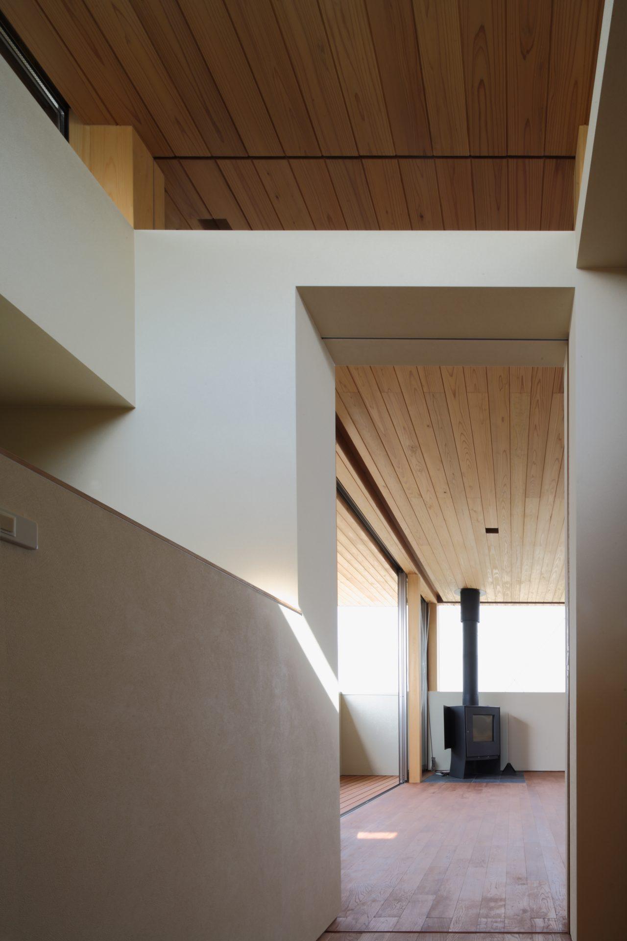 奈良西ノ京の家の階段01