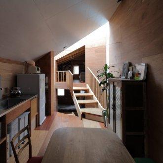 兵庫六甲の家のLDK01