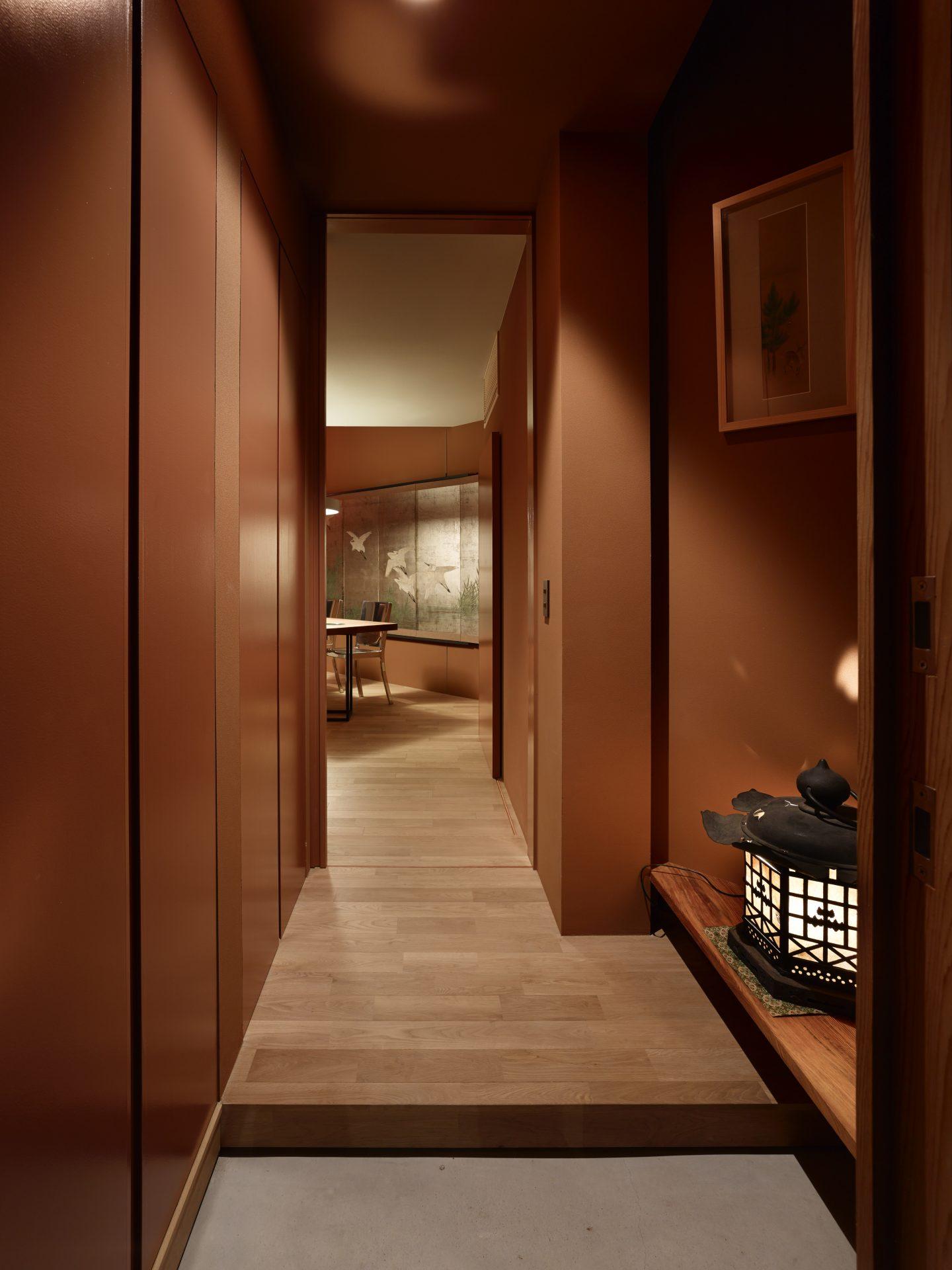 奈良高の原の家の玄関