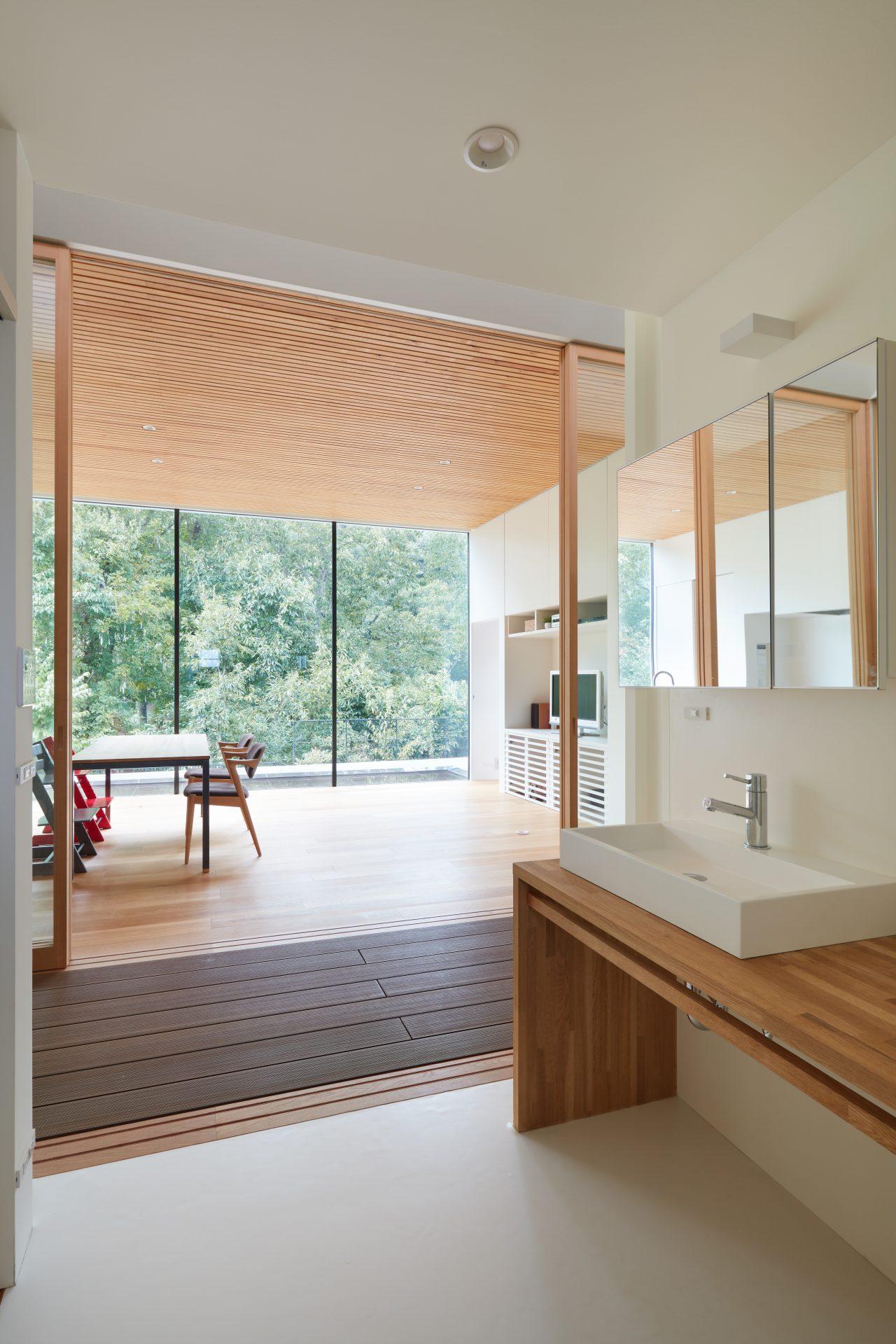 大阪豊能郡の洗面室
