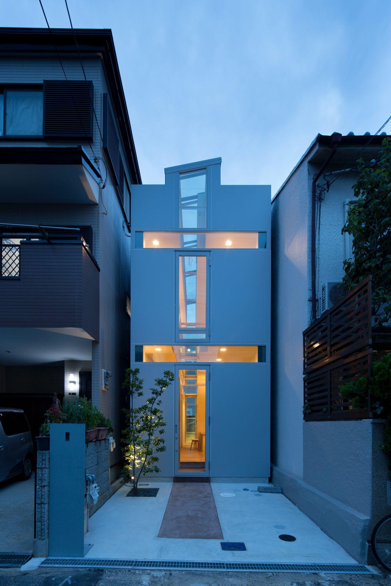 兵庫尼崎の家の外観(夜景)