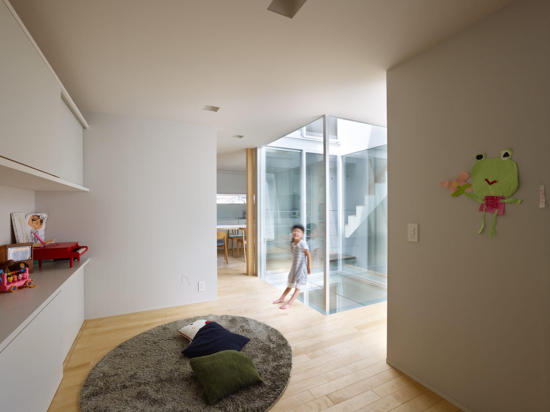 福井敦賀の家の2階リビング01