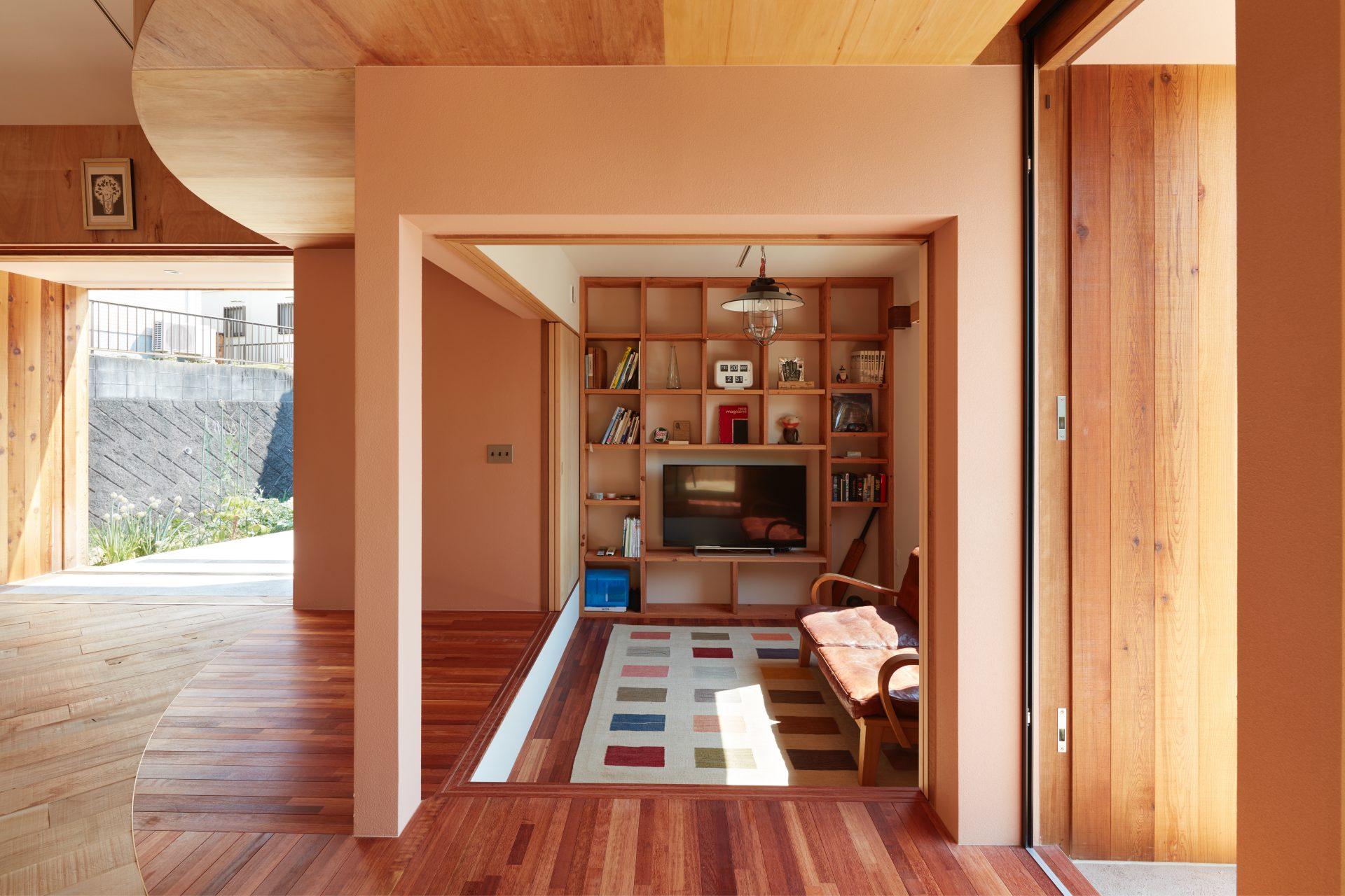 広島向洋の家のワークスペース