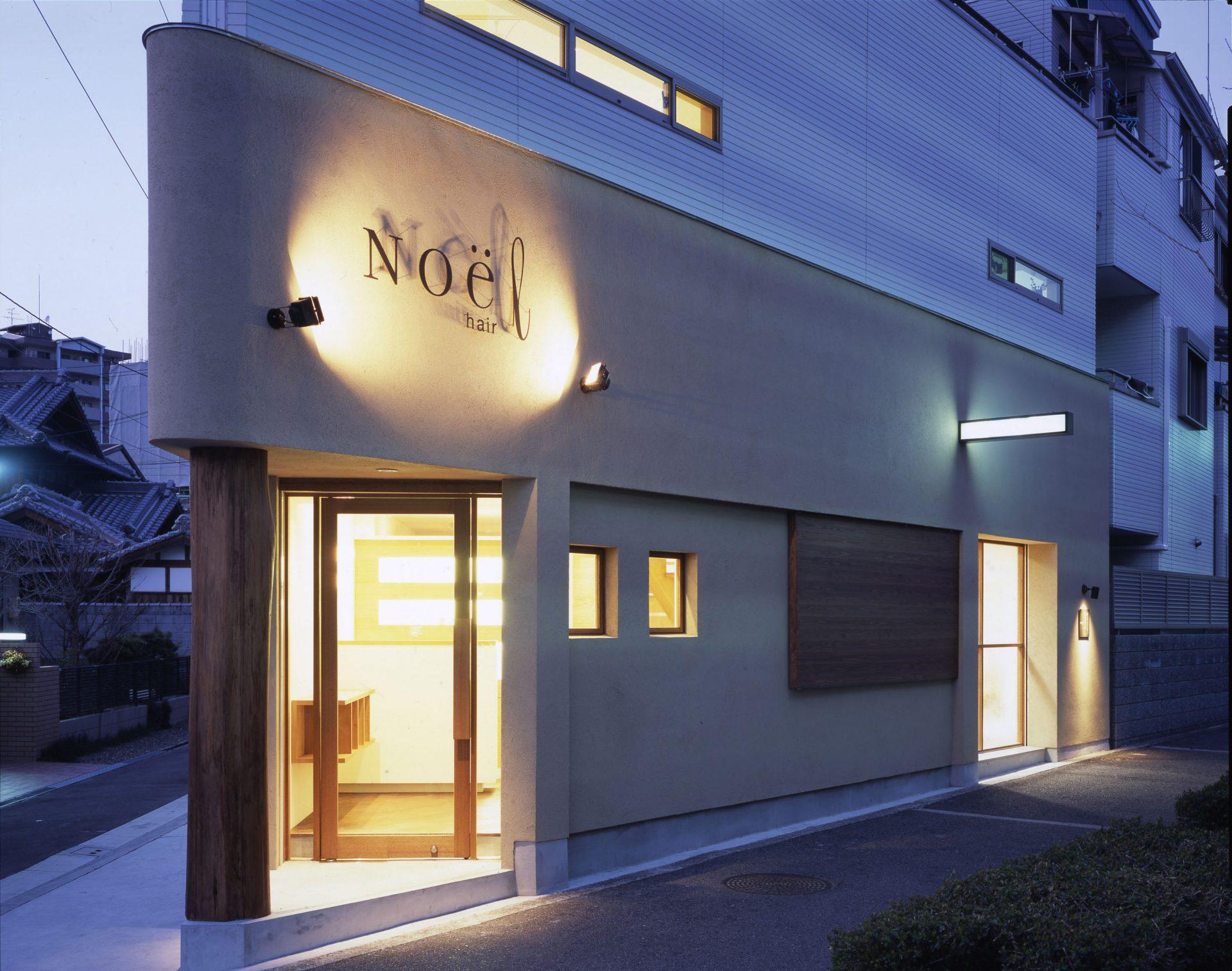 大阪NOEL hairの外観(夜景)