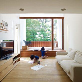 兵庫西宮の家のリビング01