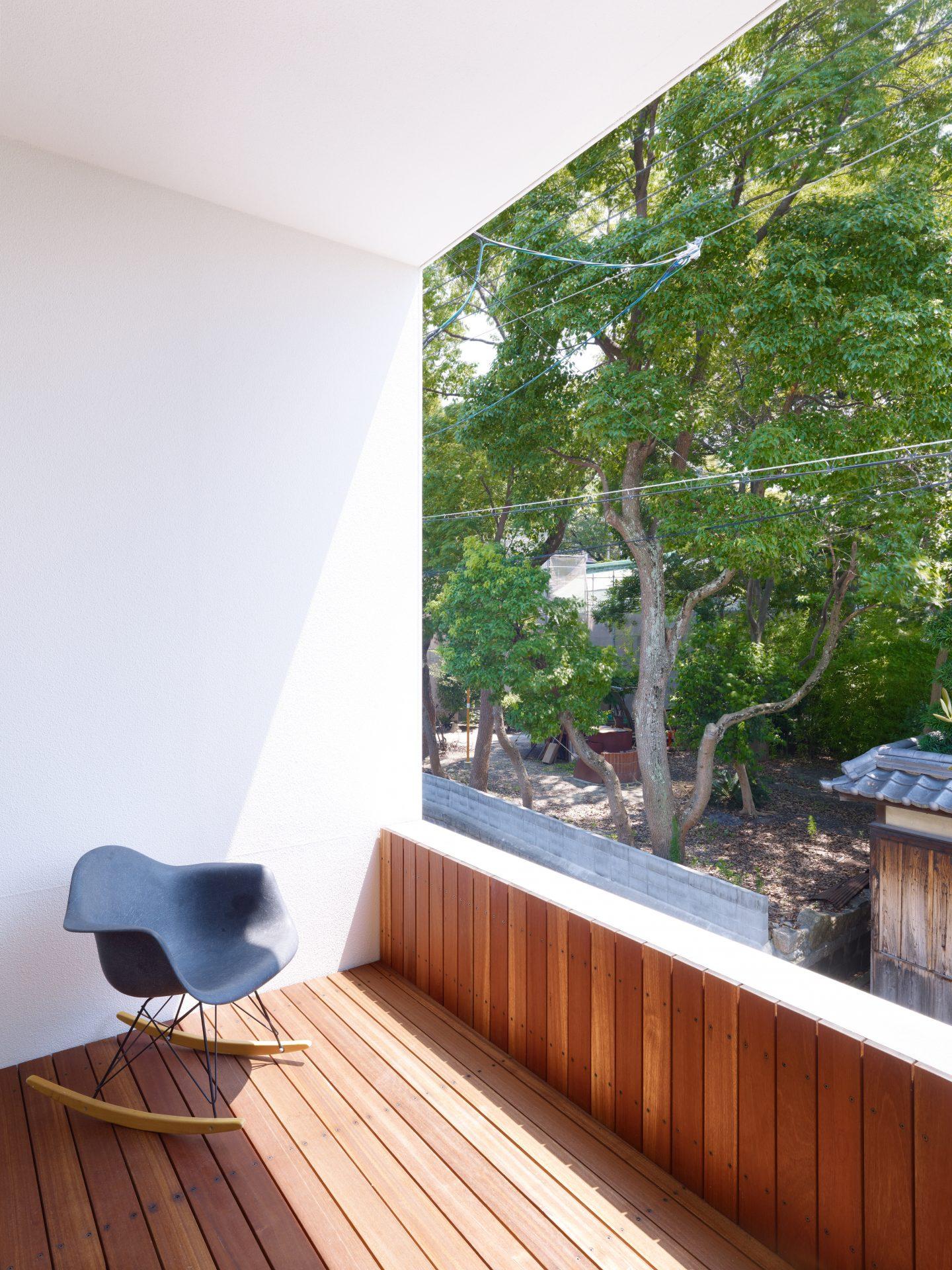 兵庫西宮の家のバルコニー