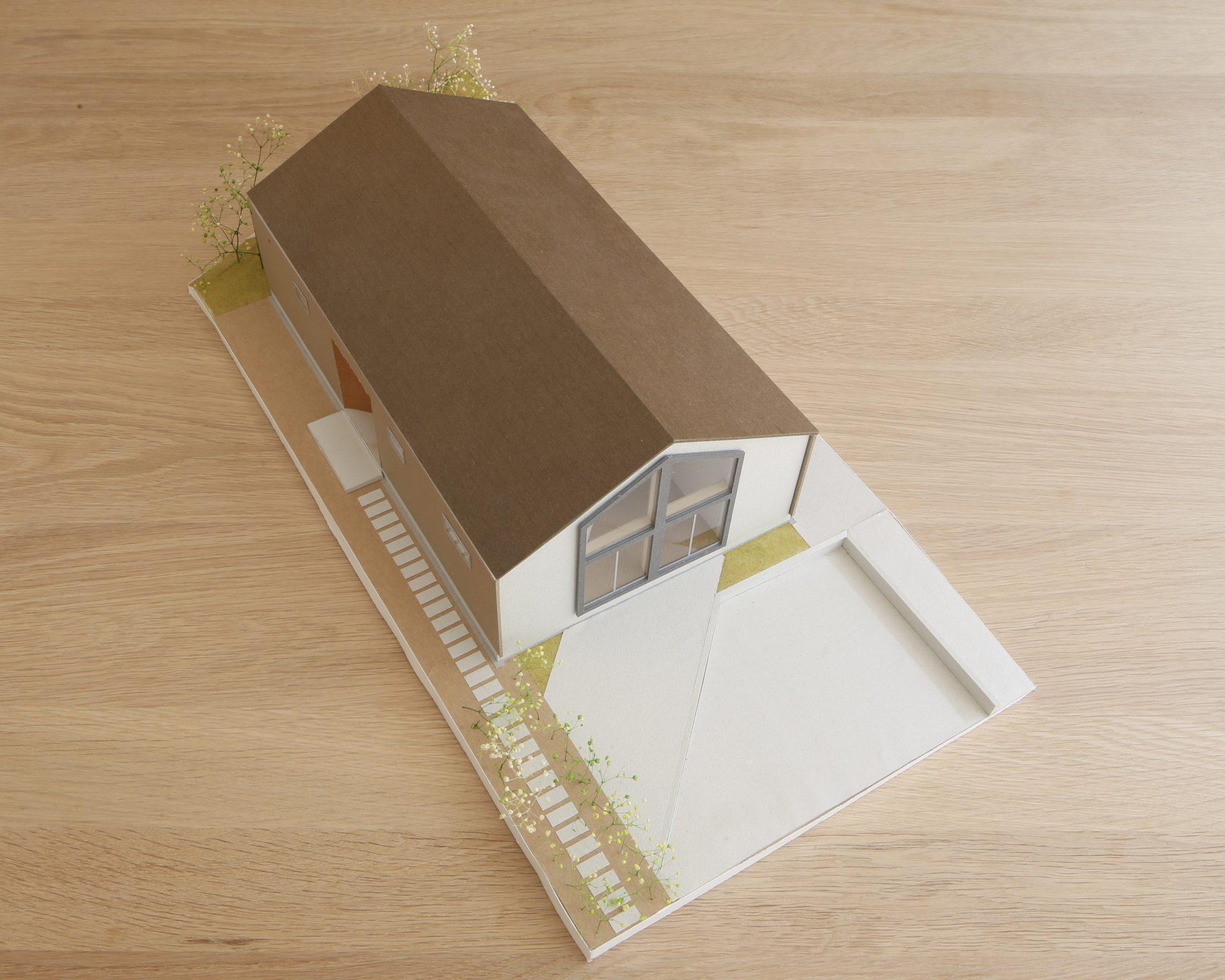 奈良生駒の家の模型01