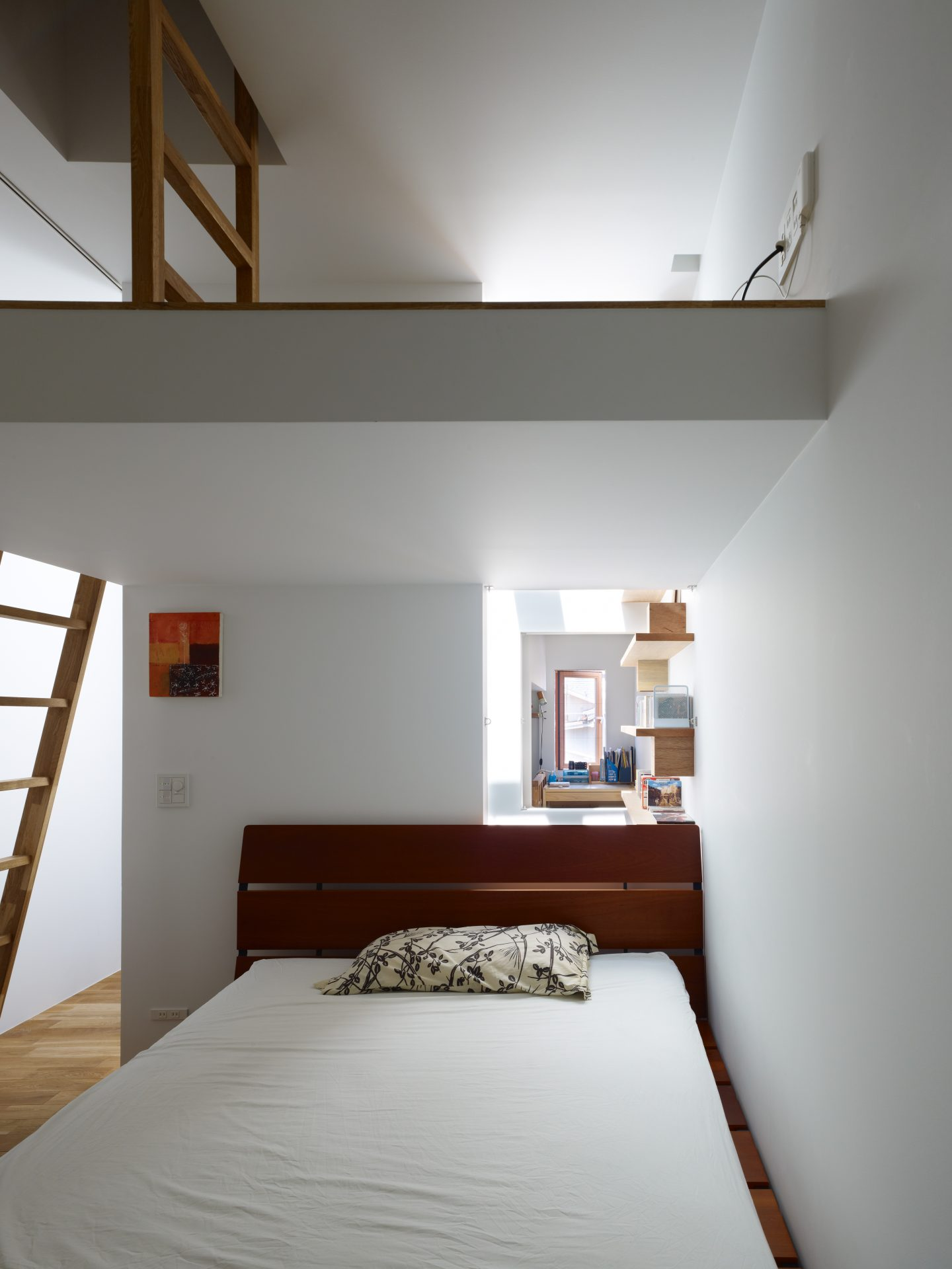 兵庫神戸の小さな家の寝室