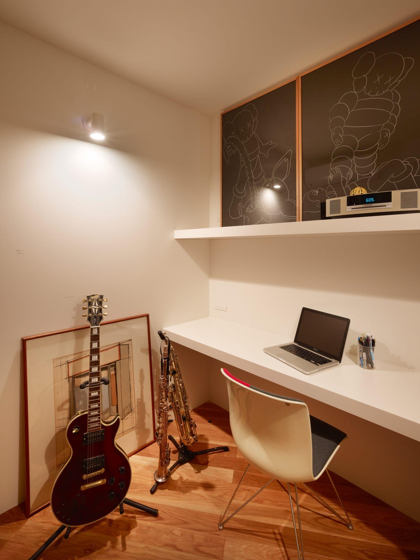 大阪箕面の家の音楽室