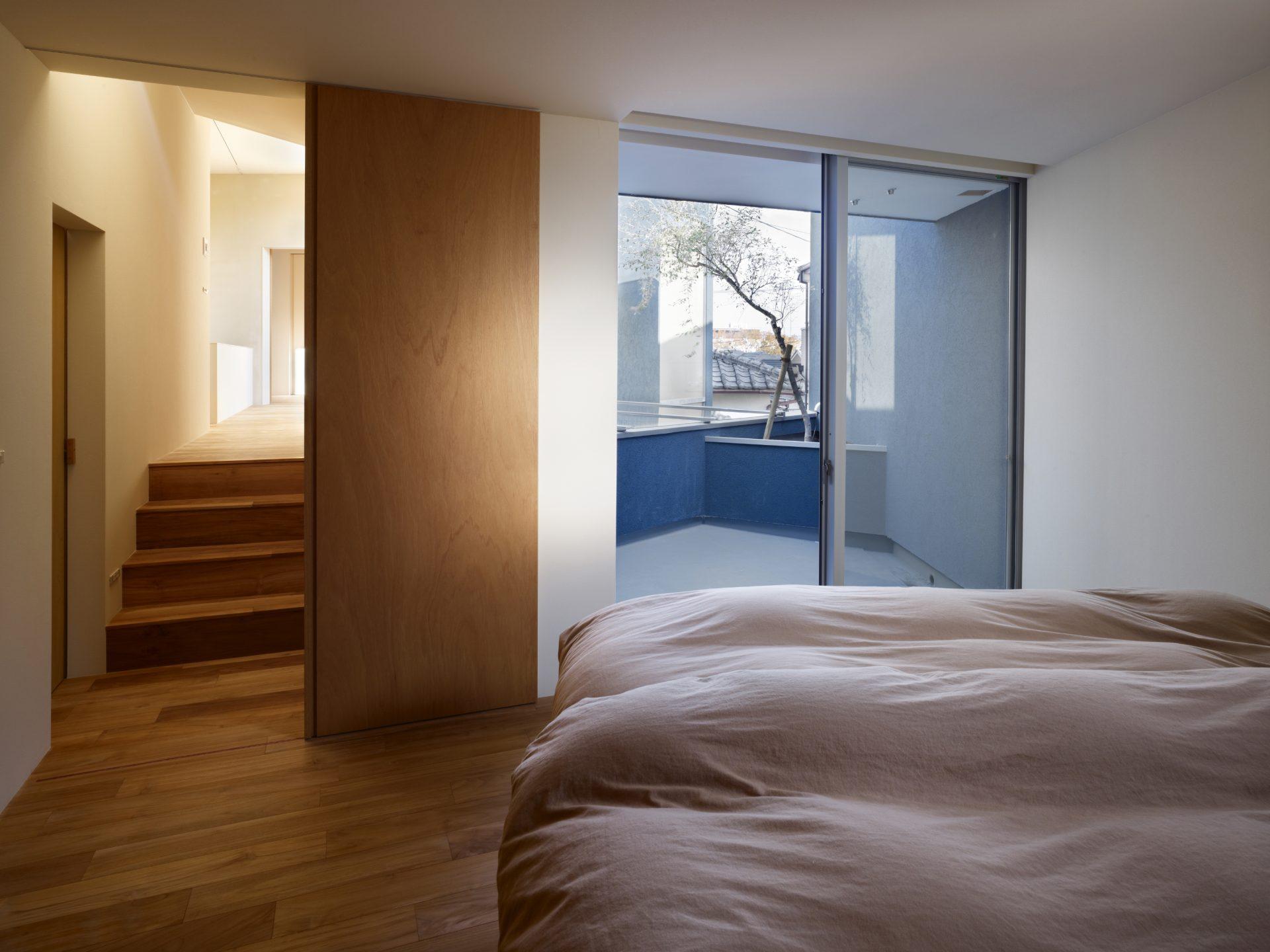 大阪上野芝の家の寝室